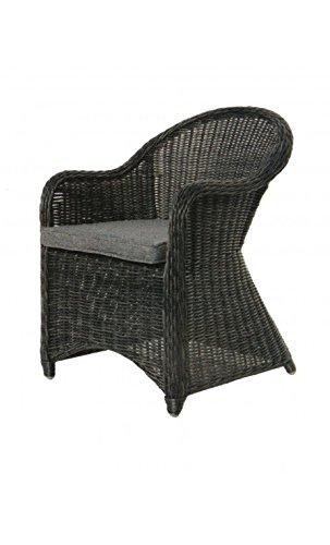 Cor Mulder - Chaise d'extérieur tressée gris Nizza