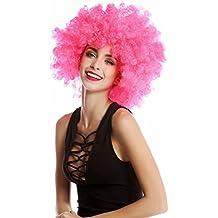 WIG ME UP ® - Peluca afro rosa Funk Disco años 70 años 80 Foxy Brown PW0011-PC5