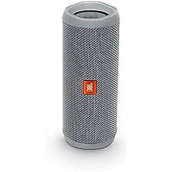 JBL Flip 4 - Enceinte Bluetooth portable robuste - Étanche IPX7 pour piscine & plage - Autonomie 12 hrs - Qualité audio JBL - Gris