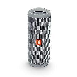 JBL Flip 4 Bluetooth-Lautsprecher Box (Wasserdichter, tragbarer Lautsprecher mit Freisprechfunktion und Sprachassistent, bis zu 12 Stunden Wireless Streaming mit einer Akku-Ladung) grau