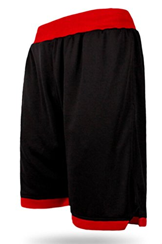 Brinny Herren Shorts Basketball Basketballhose Freizeit Sporthose Training  Bermuda Fitness Strand Schwarz 1