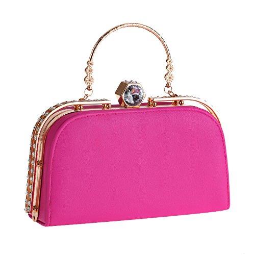 Kfrsq borsa donna tracolla pochette la minimalista delle donne del sacchetto partito di sera diamante della dell'unità elaborazione borse europee e americane