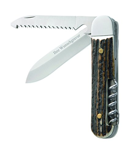 Herbertz Jagd-Taschenmesser, 3-teilig mit persönlicher Gravur