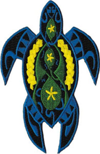 TURTLES Application AnwendungFancy Blue Turtle Patch Fleck Iron-On / Sew-On Officially Licensed Reptiles / Animals Artwork, 2.5