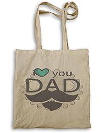 El día de padre te amo papá bigote divertido bolso de mano d576r