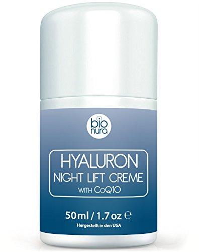 Hyaluronsäure Nachtcreme für das Gesicht. Lift Anti-Aging-Feuchtigkeitscreme. Nachtpflege für...