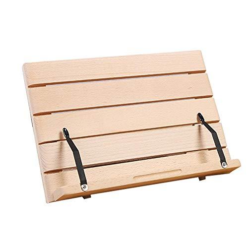 Brownrolly Holz Schreibtischstander Kochbuchhalter Verstellbarer Lesepapier Stander Tablet Faltbare Ablage Papierklammern Fur