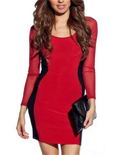 Qiyun – Robe pour femme Rouge