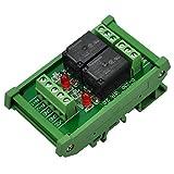 ELECTRONICS-SALON montaje en carril DIN 2 SPDT Relé de potencia del módulo de interfaz, OMRON 10 relé, 5 V bobina.