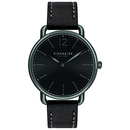 Coach Mens Delancey Slim Black Dial BlackLeather Strap 14602346