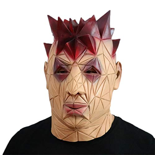 Masken Halloween Latex Kopf Masken, Faule Gesicht Monste Grimasse Geister Spuk Haus Monste Kostüm Horror Zombie Lustige Scary Creepy Fancy Dress