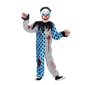 Amscan Boys Scary Clown with Mask Costume Kids Halloween Fancy Dress