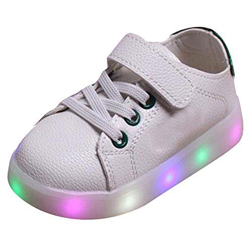 Kleinkinder Kinder Schuhe (hibote Kleinkind Jungen Mädchen LED leuchten Schuhe Grün Größe 21)