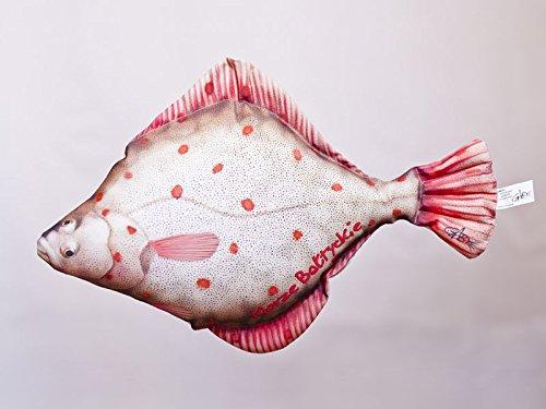 Kissen Fisch Die Flunder 41 cm Kuschelfische Kuscheltie Kopfkissen Plüschtier