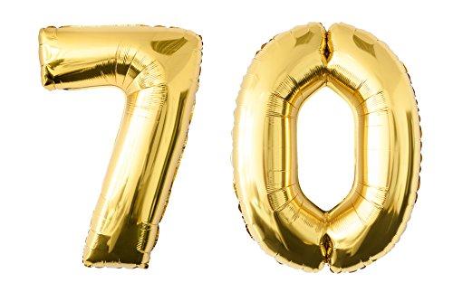 Folienballon 70 gold Zahlenballon Luftballon Riesenzahl Party Hochzeit Kindergeburtstag Geburtstag 70