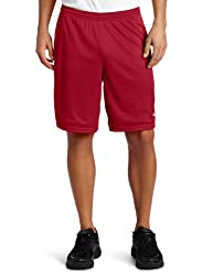 Champion Long Mesh Mens Shorts with Pockets, XXL-Deep Garnet