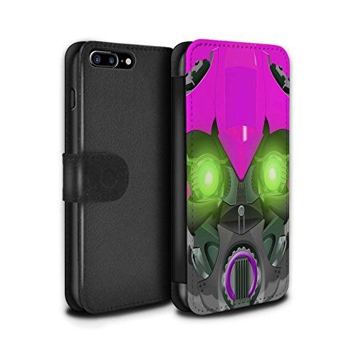 Stuff4 Coque/Etui/Housse Cuir PU Case/Cover pour Apple iPhone 7 Plus / Bumble-Bot Jaune Design / Robots Collection Bumble-Bot Violet