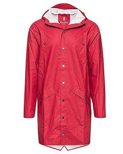 RAINS Herren Regenmantel Long Jacket Scarlet
