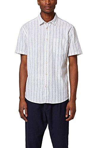 Esprit 048ee2f013, camicia uomo, bianco (white 100), large