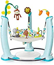 ExerSaucer Jump & Learn™ Jungle Quest Stationary Baby Jumper, Blue & W