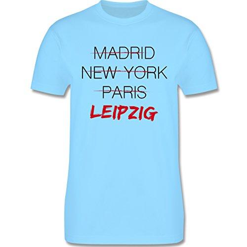 Städte - Weltstadt Leipzig - Herren Premium T-Shirt Hellblau