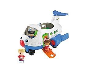 Fisher-Price Little People Aircraft De plástico vehículo de Juguete - vehículos de Juguete (De plástico, Azul, Color Blanco, 1, 12, 5 año(s), Niño/niña, Batería)
