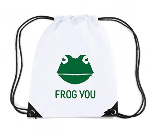 Cotton Island - Zaino Zainetto Budget Gymsac TM0490 frog you, Taglia Capacita 11 litri