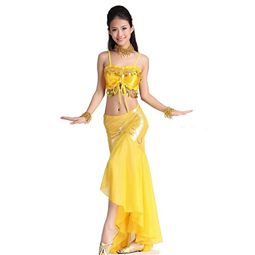ropa-de-baile-traje-de-danza-del-vientre-set-sling-acunar-top-fish-tail-long-falda-yellow