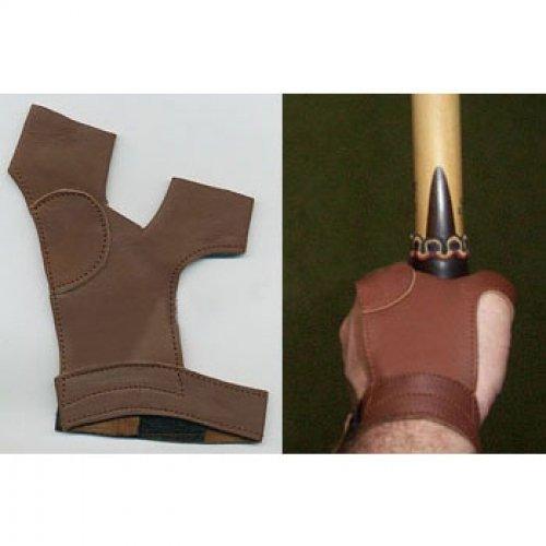 Bogenhandschuh traditionell Leder f. RH Schützen black.bulls (XXL)