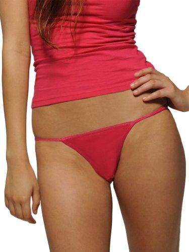 Bella + Canvas Ladies Tanga Slip 301 Einheitsgröße Rot / Rot (Belle Womens Slip)