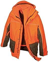 HUBERTUS–Hombre Cremallera Proteger Perros Guía nachsuche Chaqueta Picas resistente al agua Señal Naranja con forro polar chaqueta, large
