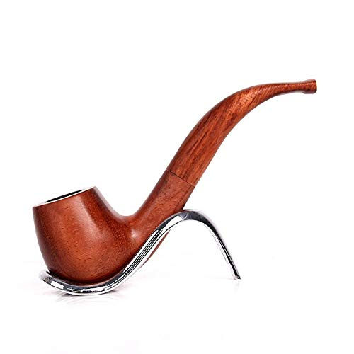 Klassische Mahagoni-finish (Niceamz Pfeife Handgefertigt Aus Reinem Holz Ebenholz Mahagoni Pfeife Smoking Tool Hammer Klassische Tragbare Seide Eimer Tragbare Sonderanfertigung (Color : A))