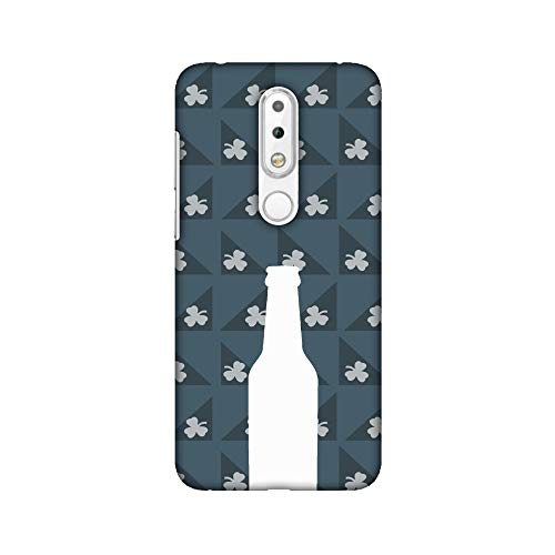 AMZER® Designer Case - Beer and Pattern with shemrock - Teal for Nokia 6.1 Plus