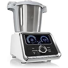 Klarstein GrandPrix • Küchenmaschine • Rührmaschine • Knetmaschine • 500 - 1000 Watt • 2,5 Liter Edelstahlschüssel • Temperatur von 30 bis 120 °C einstellbar • 12 Geschwindigkeitsstufen • silber