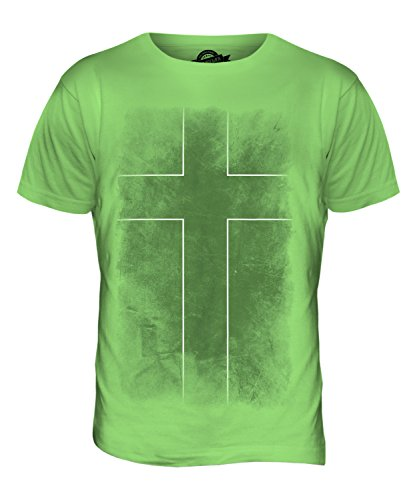 CandyMix Ladonien Verblichen Flagge Herren T Shirt Limettengrün
