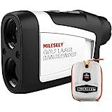 MiLESEEY Telemetro Golf con Pendiente de Encendido / Apagado, Telémetro Golf 600m con Bloqueo de Bandera y Vibración, Precisi