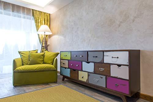 Estores Basic Living Color Vinilo, Verde, 80x150cm, Antideslizante, Alfombra para Salon Modernas, Oliva...