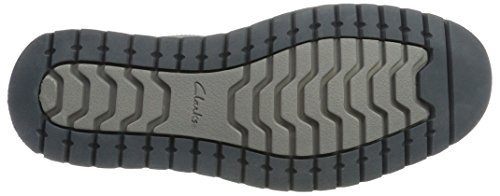 Clarks ClarksVarby Stride - Scarpe stringate Uomo Grigio (Dark Grey Lea)