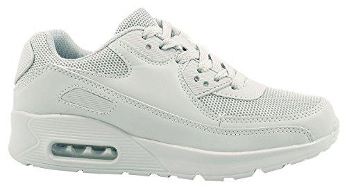 Trendige Unisex Sneaker | Sneaker Unisex Da Moda | Damen Herren Kinder Sport Laufschuhe Turnschuhe All Grey Sporty Homens, Mulheres, Crianças, Esportes Tênis Sapatilhas Tudo Desportivo Cinza