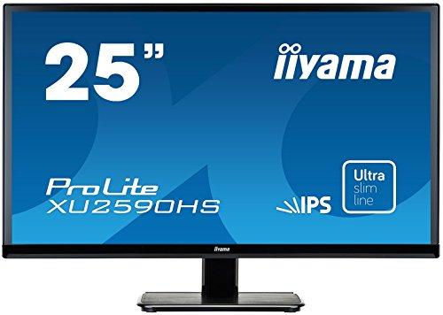 iiyama ProLite XU2590HS-B1 63,5cm (25 Zoll) AH-IPS LED-Monitor Full-HD (VGA, DVI, HDMI, Ultra-Slim-Line) schwarz