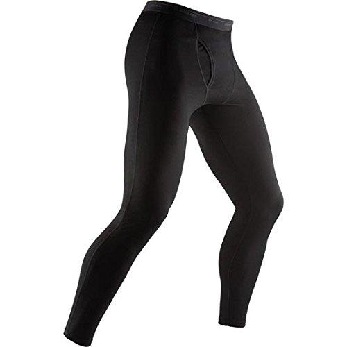 Icebreaker Men's Body Fit Basics Lightweight Everyday Merino Leggings with Fly-Black, Large