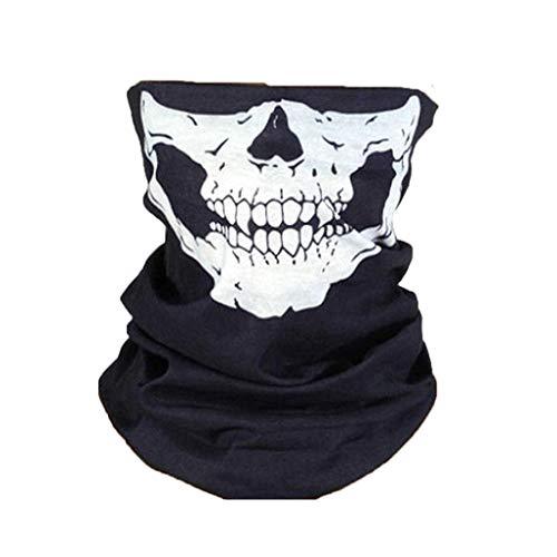 Kongnijiwa Schmuck-Serie Halloween-Motorrad-Schädel Individuelle Gesichtsmaske Seamless Kopfbedeckung Wandern einen.Kreislauf.durchmachenschal Ski Cap Snowboard-Stirnband