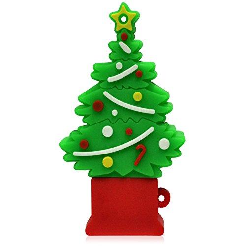 818-Shop No7400060032 USB-Sticks (32 GB) Weihnachen Tannenbaum grün