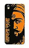 Oppo A37 Case, Shivaji Maharaj Orange Black Slim Fit Hard Case Cover/Back Cover for Oppo A37