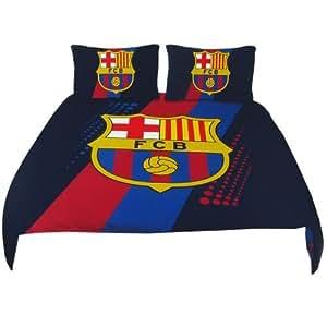 parure de lit double housse de couette fc barcelone