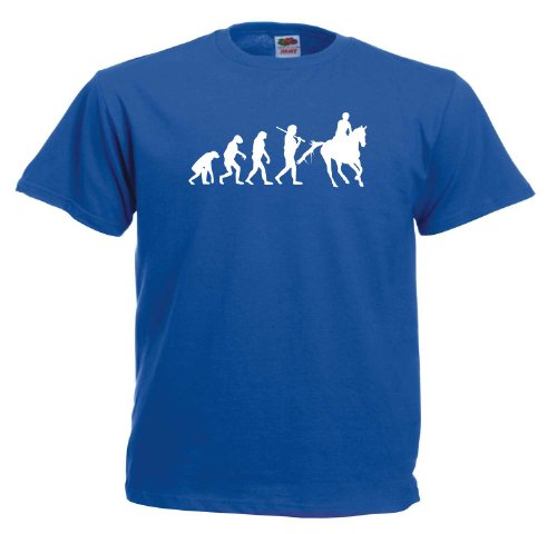 Pferde Evolution T426 Unisex T-Shirt Blau
