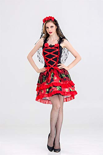 MY Halloween Kostüm Cosplay Uniform Party Geist Braut Vampir Königin Hexe für Frauen (Size : XL)