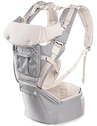 MEIMEI®Bebé de múltiples funciones de malla transpirable hombro color sólido silla lumbar correas . shoulders grey