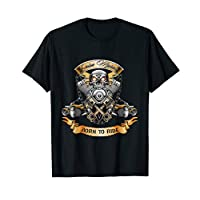 Born To Ride Skull T-Shirt, Gift Shirt