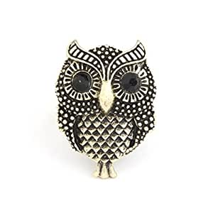 Crunchy Fashion Cute Owl Ring for Women